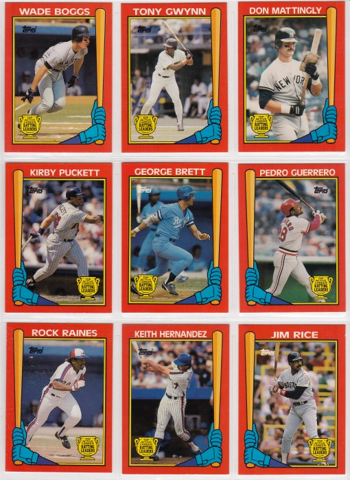 1989 Topps Batting Leaders set