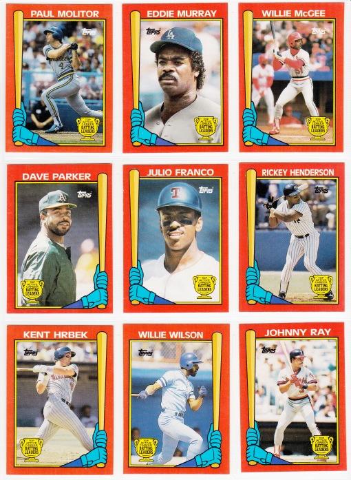 1989 Topps Batting Leaders set_0001