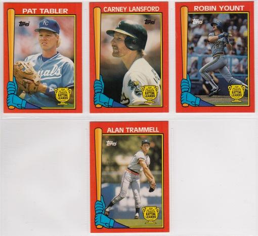 1989 Topps Batting Leaders set_0002