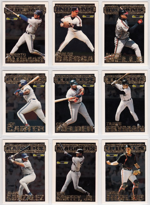 1994 Topps Black Gold set