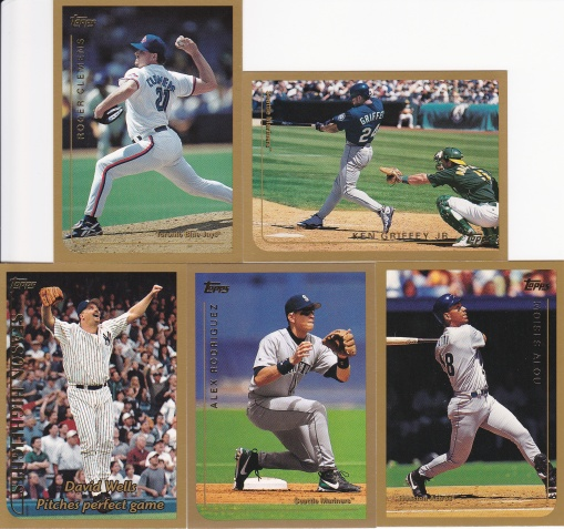 1999 Topps first and the hundreds