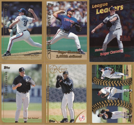 1999 Topps most cards Clemens