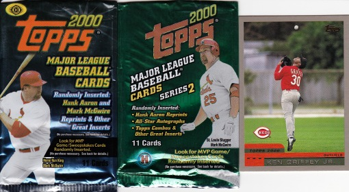 2000 Topps packs Griffey
