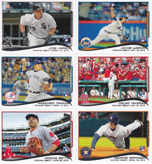 2014 Topps Update Rookie Debut subset