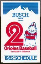 Busch 1982 Orioles schedule