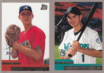 2000 Topps Traded Adrian Gonzalez Adam Wainwright RC