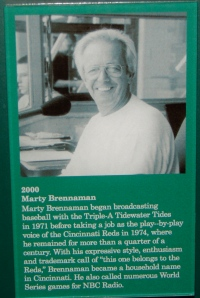 Marty Brennaman HOF plaque