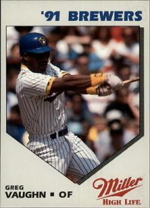 1991 Miller Brewers Vaughn
