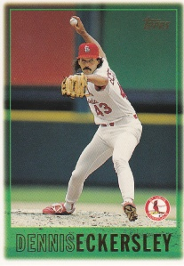 1997 Topps earliest player - Dennis Eckersley