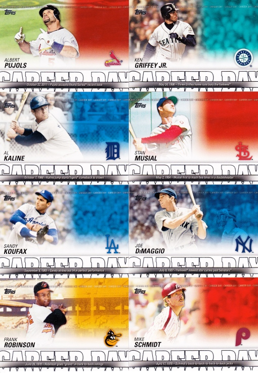 2012 Topps Career Day set