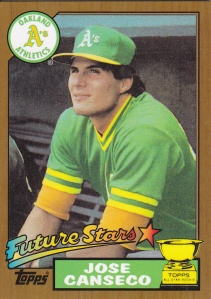 2014 Topps Future Stars Never Were Gold Canseco