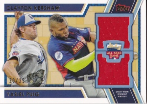 2014 Topps Update AS Stitches Dual - Puig Kershaw