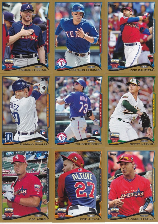 2014 Topps Update Gold