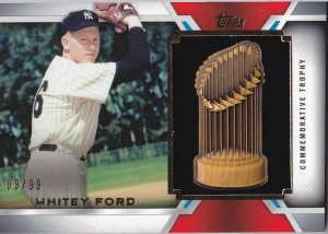 2014 Topps Update WS Manu Trophy Whitey Ford