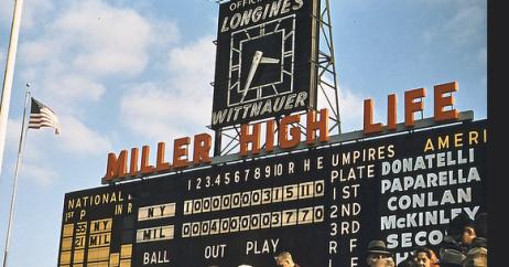 Milwaukee County Scoreboar Miller High Life