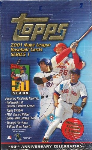 2001 Topps box series 1