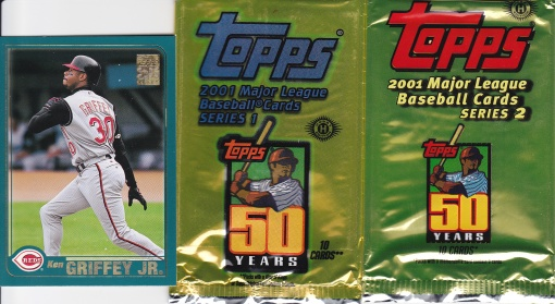 2001 Topps Griffey packs