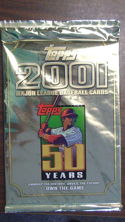 2001 Topps promo jumbo pack