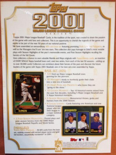 2001 Topps promo McGwire back