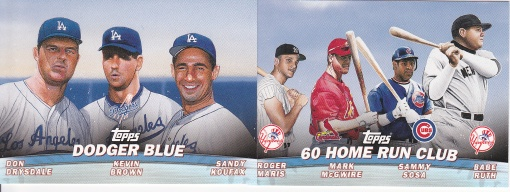 2001 Topps s2 Combos Dodgers 60 HR Club