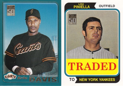 2001 Topps Traded 90 Reds Davis Piniella