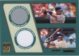 2001 Topps Traded Dual Memorabilia Manny