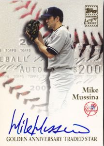 2001 Topps Traded Golden Anniversary auto Mussina