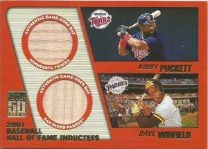 2001 Topps Traded Hall of Fame Dual Puckett Winfield