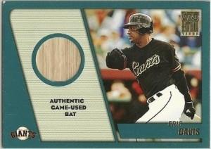 2001 Topps Traded relic Eric Davis