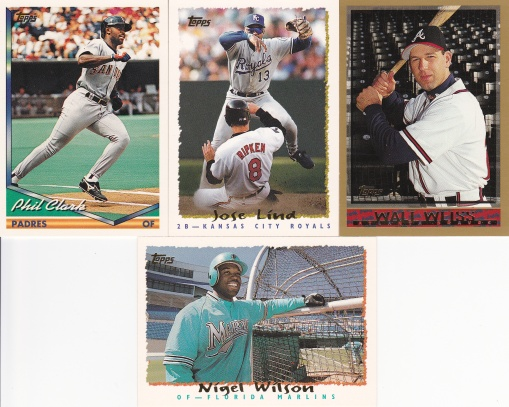 trade Common Card Man - 90s Topps base cards