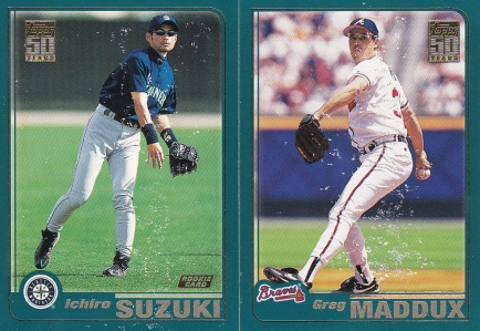 2001 Topps s2 damaged cards