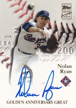 2001 Topps s2 Nolan Ryan auto