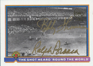 2001 Topps Shot Heard Round the World auto 91 Bowman