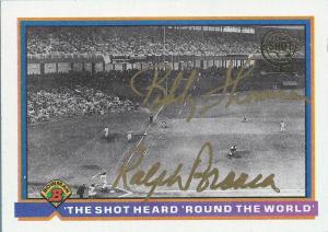 2001 Topps Shot Heard Round the World auto 91 Bowman