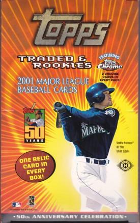 2001 Topps Traded box