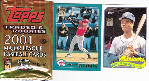 2001 Topps Traded pack Dunn Griffey