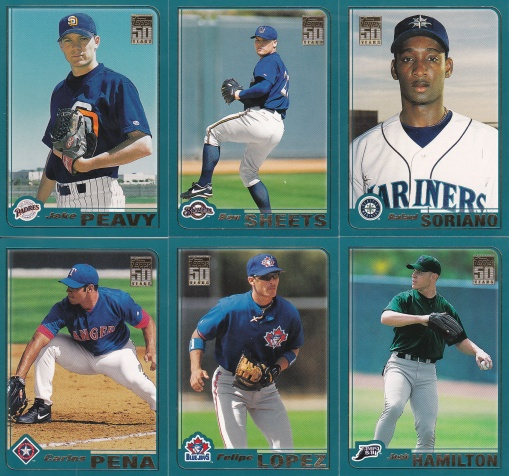 2001 Topps Traded prospects