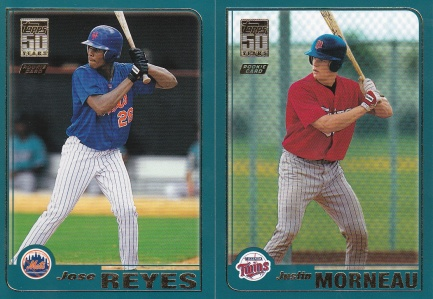 2001 Topps Traded rookies Morneau Reyes