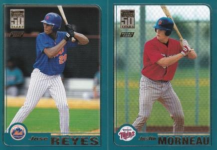 2001 Topps Traded rookies Morneau Reyes