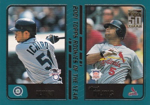 2001 Topps Traded ROY Pujols Ichiro