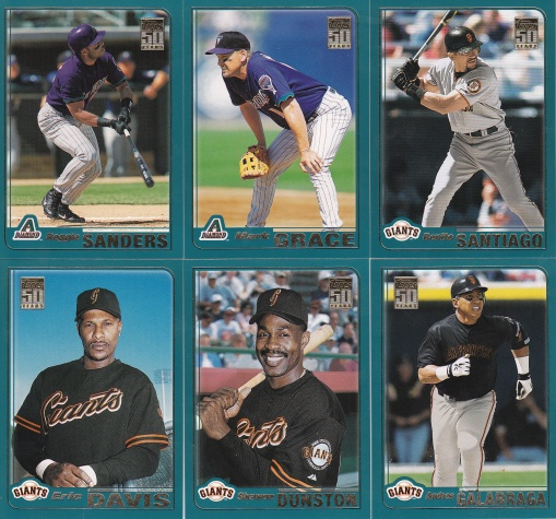 2001 Topps Traded vets Dbacks Giants