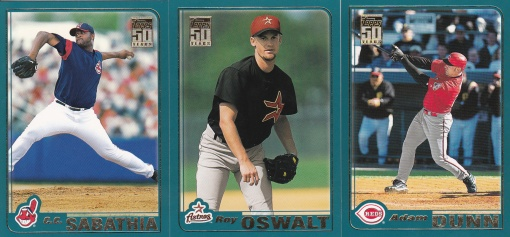 2001 Topps Traded young vets
