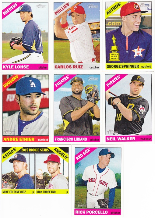 2015 Heritage retail pack base cards