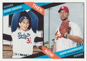 2015 Heritage Then & Now Koufax Wainwright