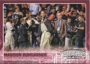 2015 Topps pink Bumgarner
