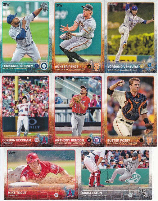 2015 Topps s1 action shots
