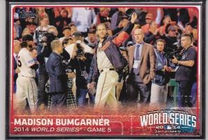 2015 Topps s1 Bumgarner Framed WS game 5