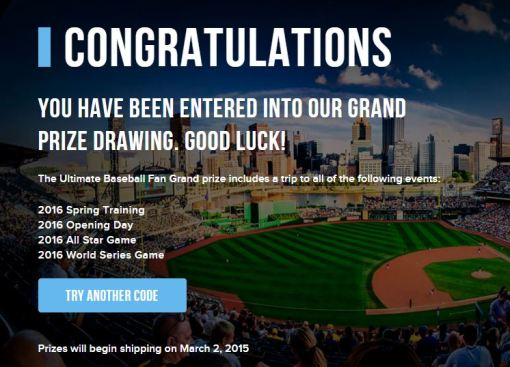 2015 Topps s1 Call Your Shot ENTRY