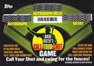 2015 Topps s1 Call Your Shot promotion
