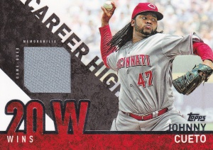 2015 Topps s1 Career High Relic Cueto